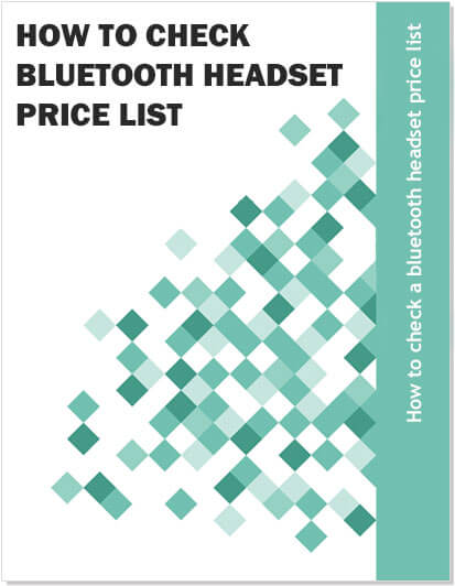 How to check a bluetooth headset price list