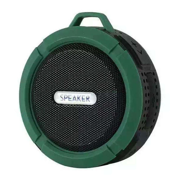 best waterproof bluetooth speaker deep green color
