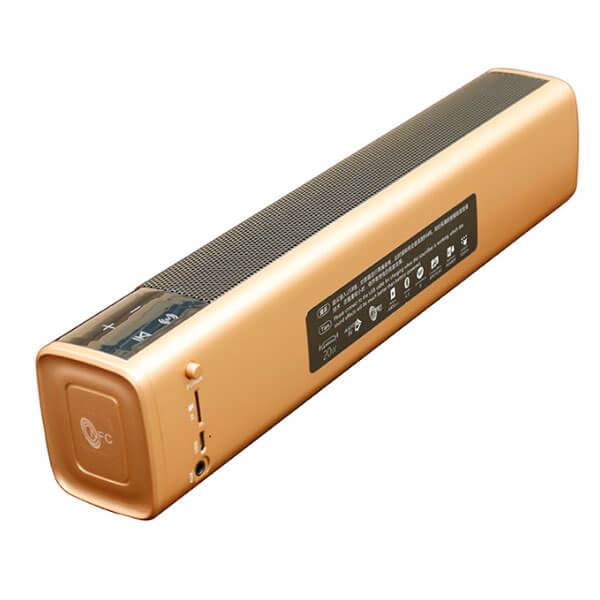 bluetooth speaker suppliers gold color back