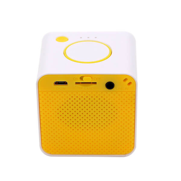 china bluetooth speaker yellow standand back