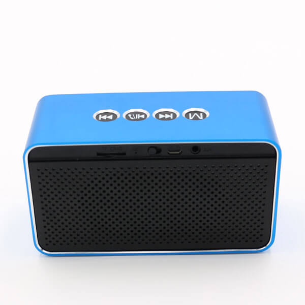 chinese bluetooth speaker blue color back