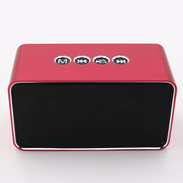 chinese bluetooth speaker red color front