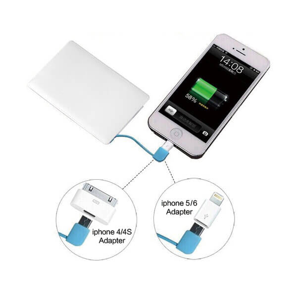 credit card power bank connecting
