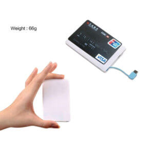credit card power bank size