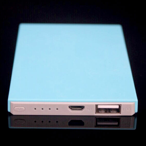 custom power banks blue color