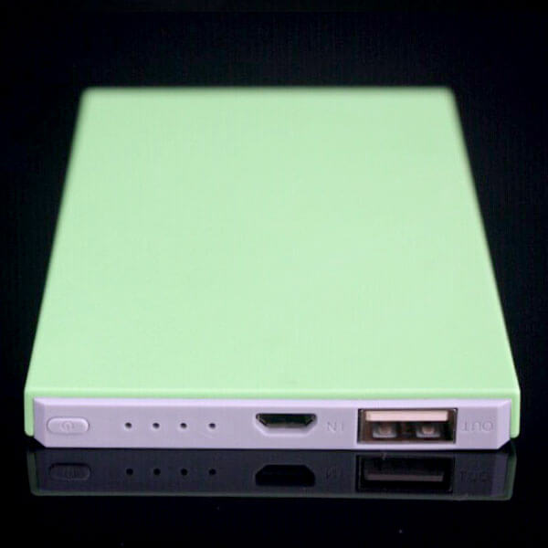 custom power banks green color