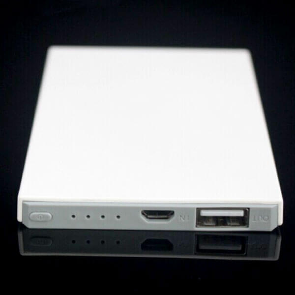 custom power banks white color