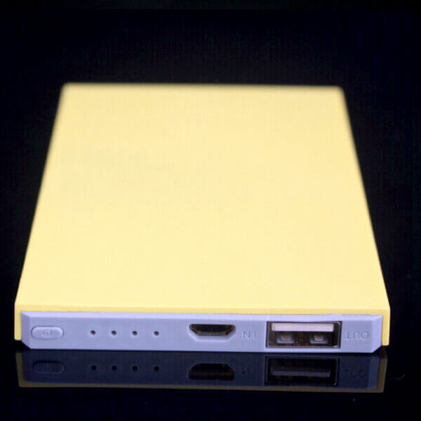 custom power banks yellow color