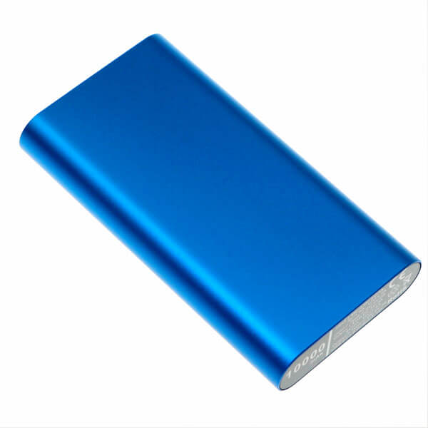 fastest charging power bank blue color back