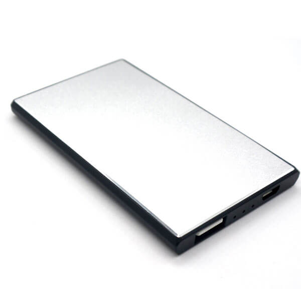 portable power bank sliver color