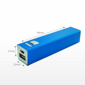 printed power banks blue color
