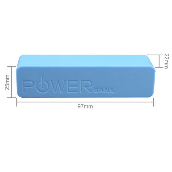 promotional power banks blue single