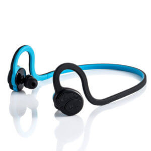 running earphones Blue color