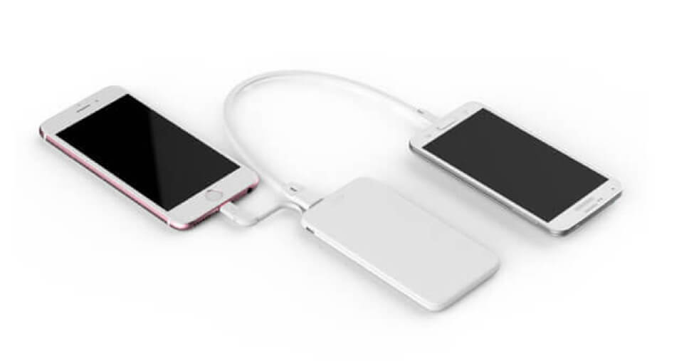 A power bank charging many device