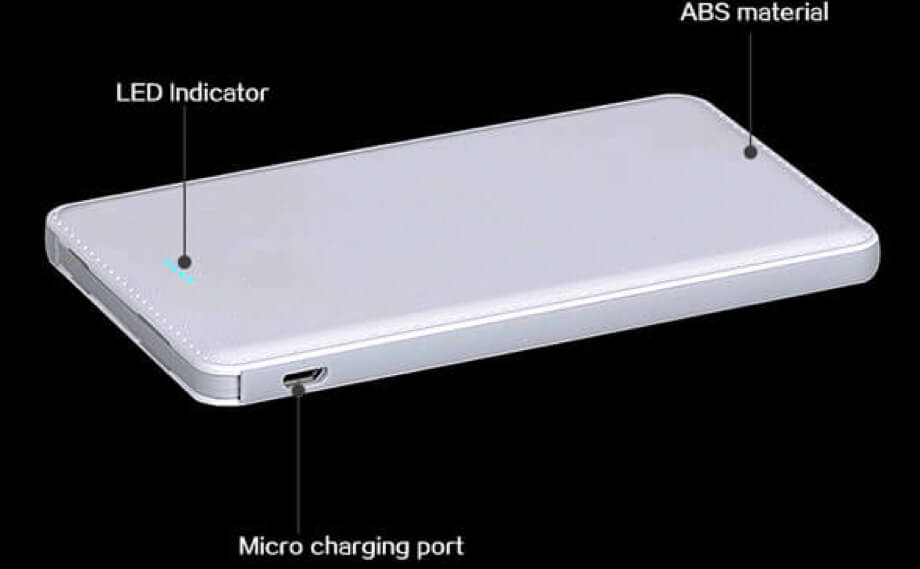 Different parts of a power bank